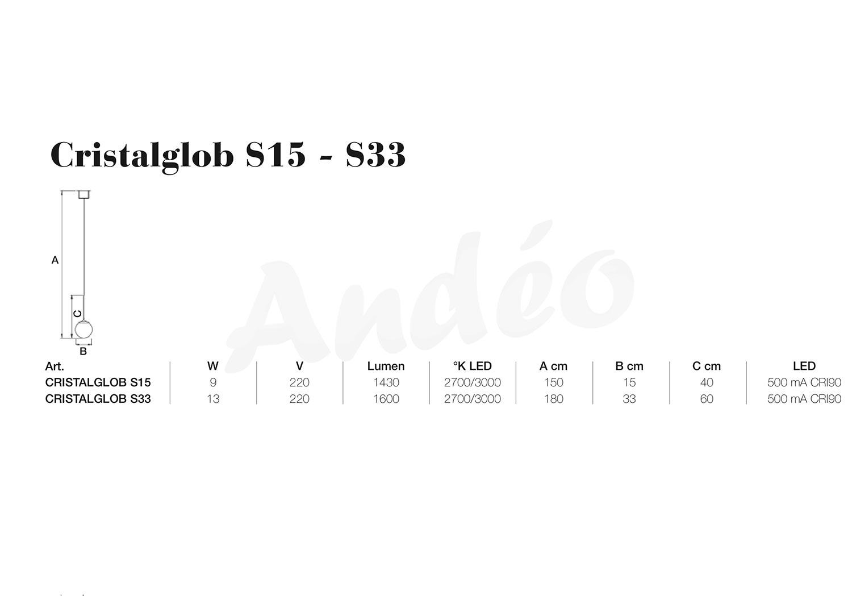 Icone Luce Cristalglob S15 S33 Tech