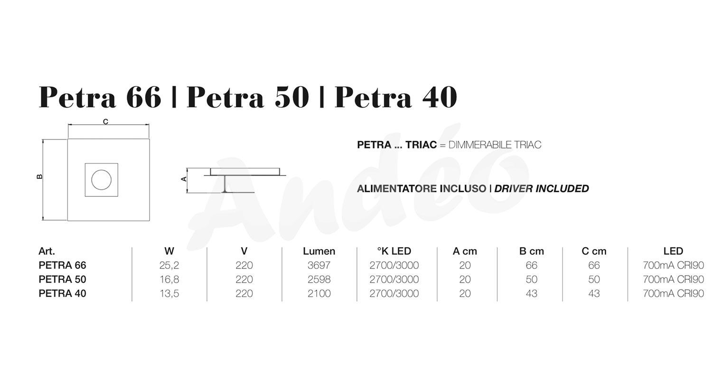 Icone Luce Petra 40 50 66 Tech
