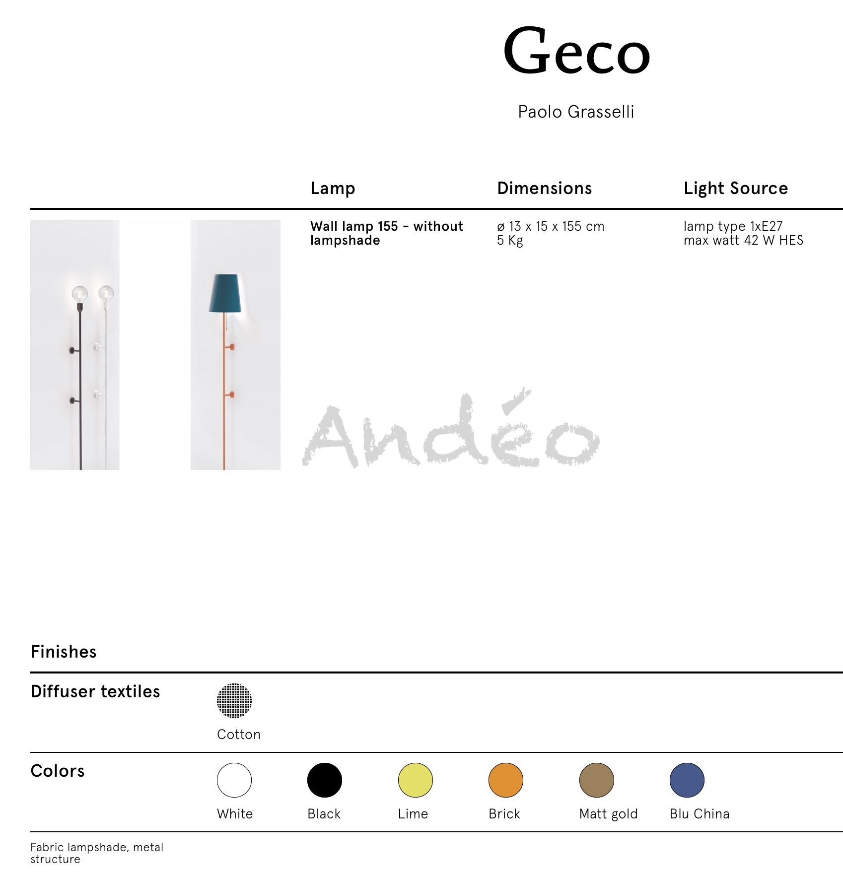 Modo Luce Geco Tech