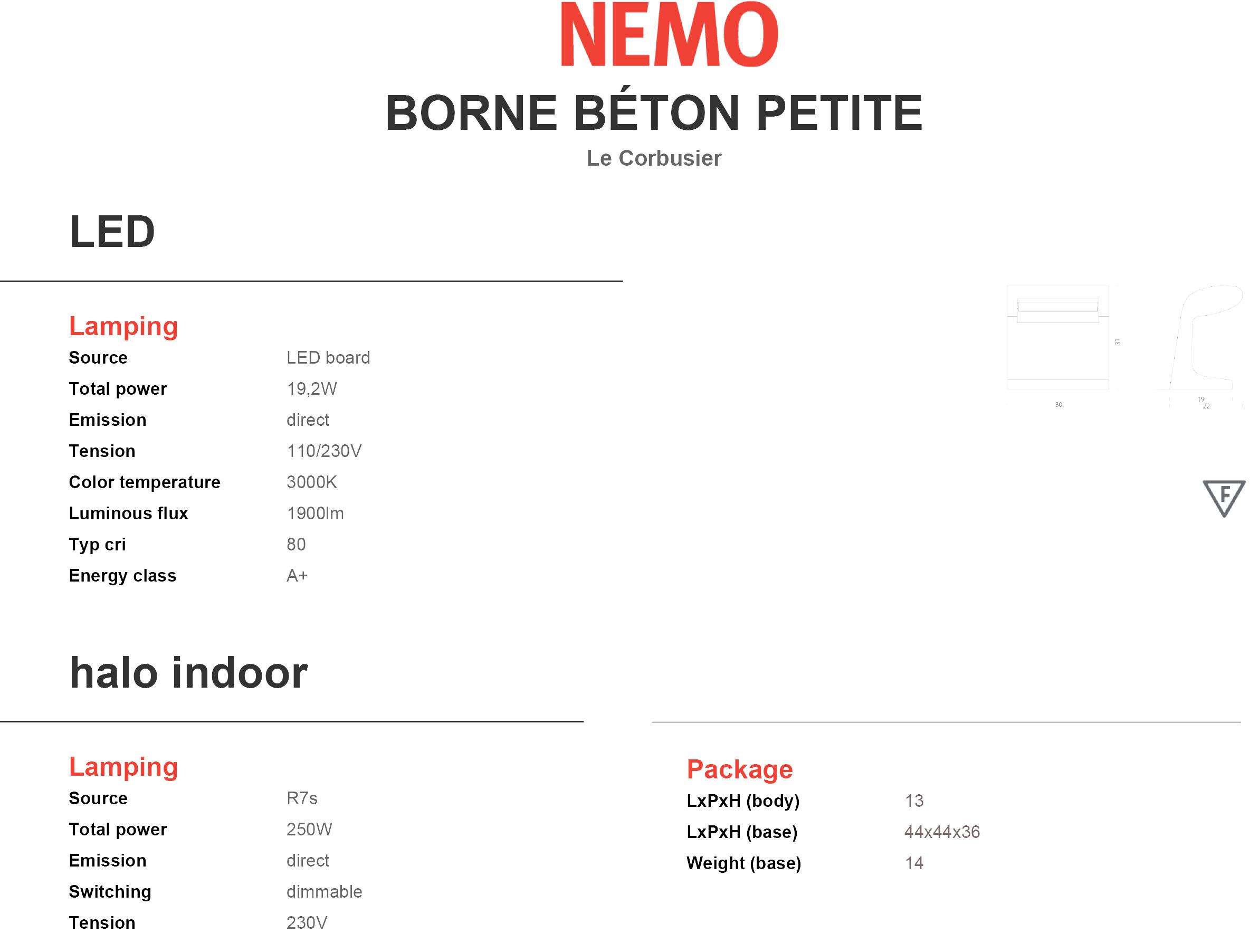 Nemo Borne Béton Petite