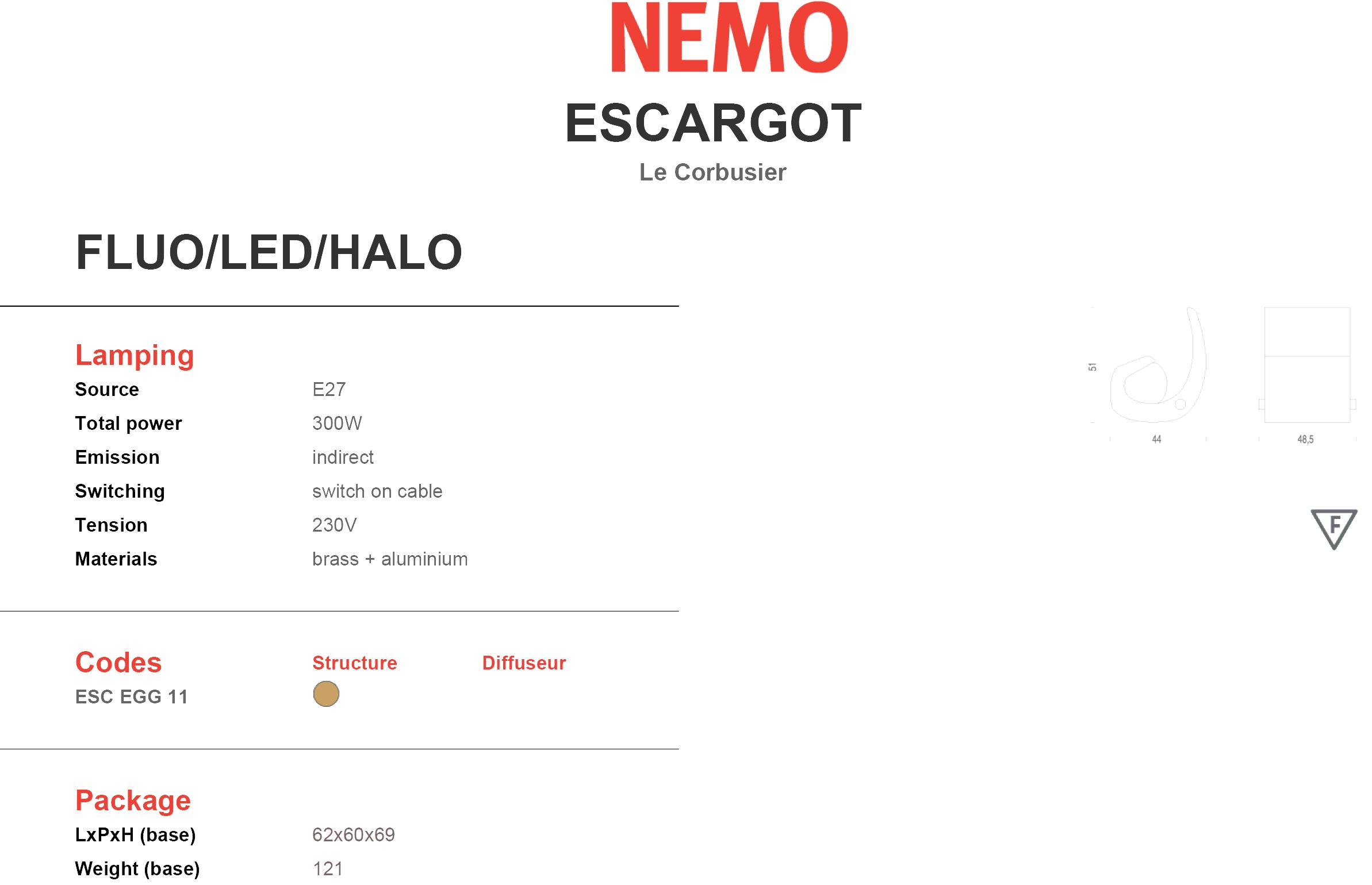 Nemo Lighting Escargot Tech