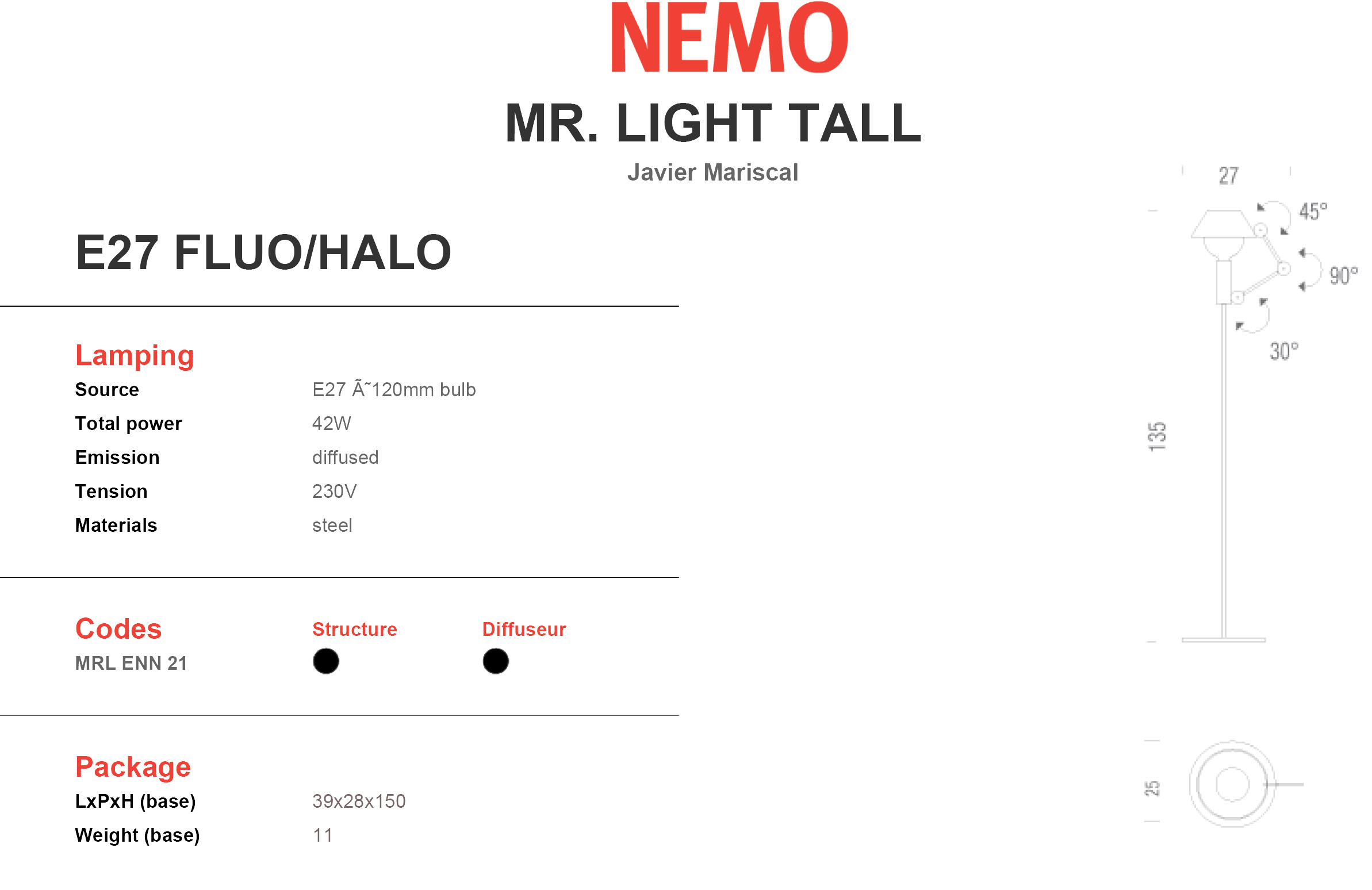 Nemo MR. LIGHT TALL Tech